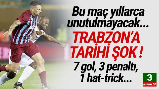 Trabzonspor'a tarihi şok ! Tam 7 gol...