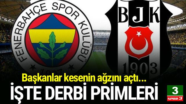 İşte Fenerbahçe ve Beşiktaş'ın derbi primleri