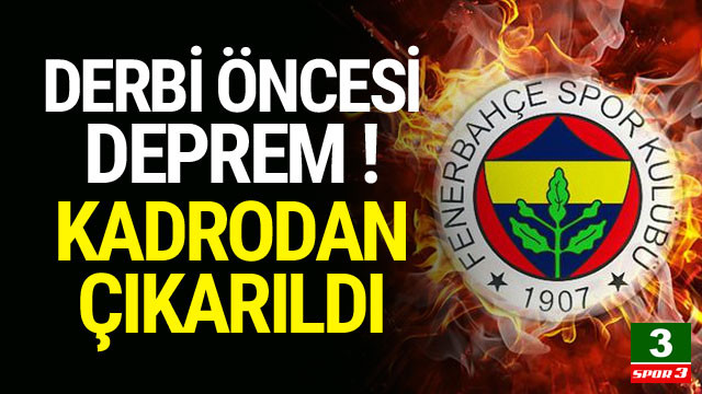 Fenerbahçe'de derbi öncesi sakatlık depremi