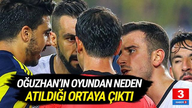 Beşiktaşlı Oğuzhan'ın neden atıldığı ortaya çıktı !