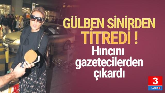 Gülben Ergen gazetecileri görünce çılgına döndü