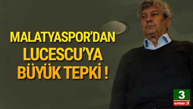 Malatyaspor'dan Lucescu'ya tepki