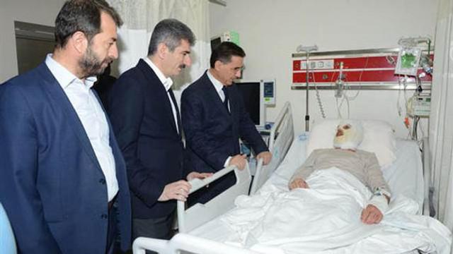 Kendisini yakmıştı... Ankara Valisi ziyaret etti
