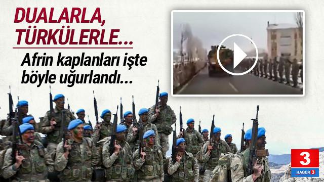 Komandolar Afrin'e böyle dualarla uğurlandı