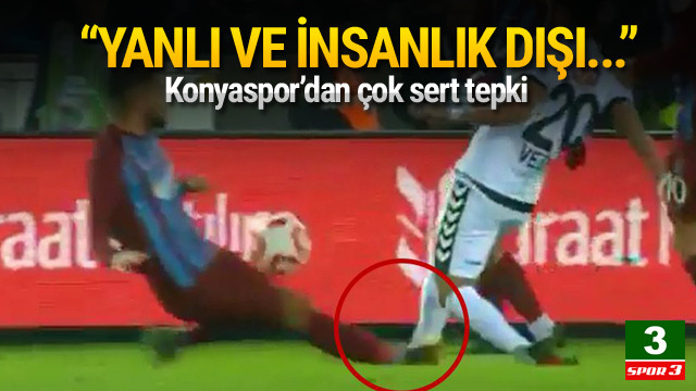 Konyaspor'dan maçın hakemine sert tepki