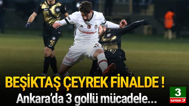 Beşiktaş Türkiye Kupası'nda çeyrek finalde