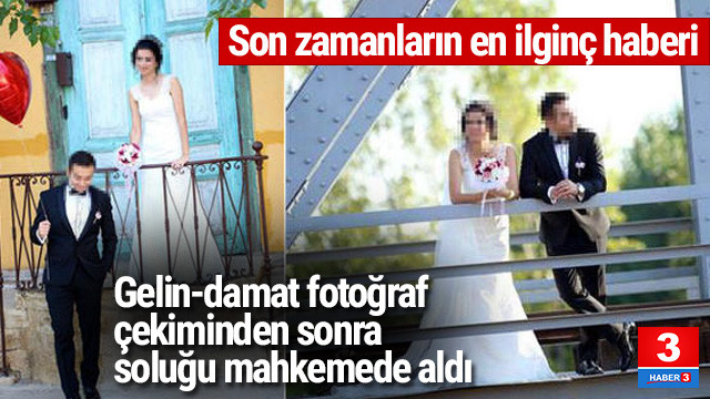 Düğün fotoğraflarını beğenmeyen çiftten şok hareket