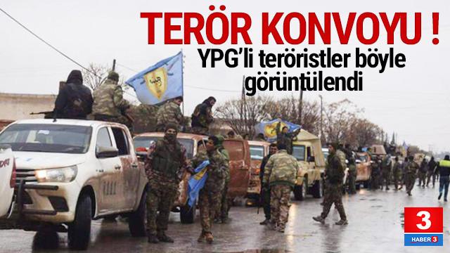 YPG'li teröristlerin konvoyu böyle görüntülendi