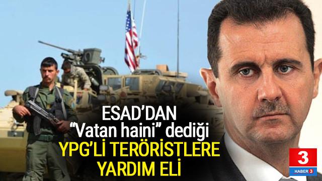 Esad'dan YPG'li teröristlere yardım eli