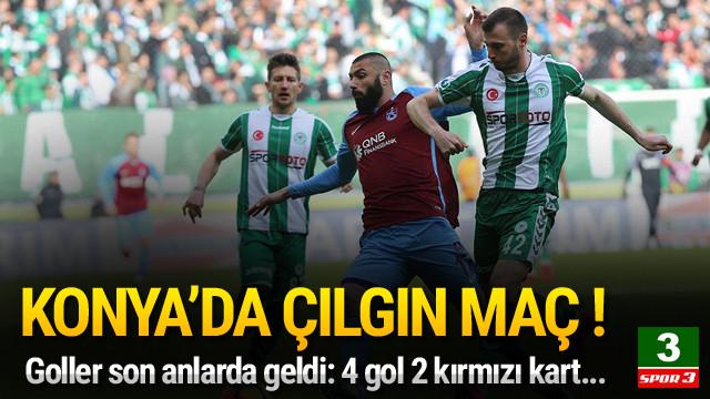 Konya'da 4 gol 2 kırmızı kart !