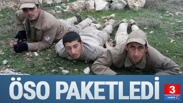TSK destekli ÖSO'nun ele geçirdiği köyde 3 terörist yakalandı