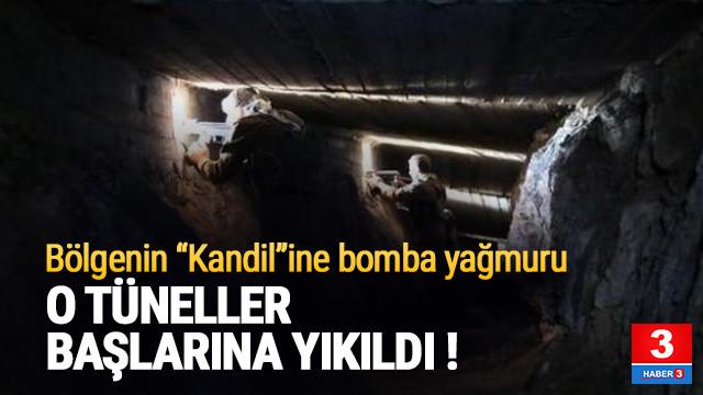 Terör örgütünün tünellerine bomba yağdırıldı