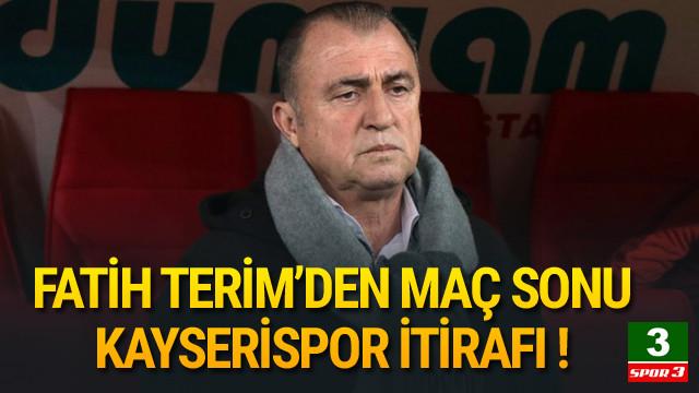 Fatih Terim'den Kayserispor itirafı