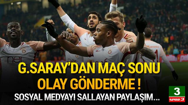 Galatasaray'dan olay paylaşım !