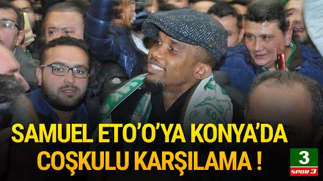 Samuel Eto'o'ya coşkulu karşılama