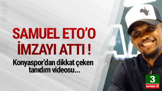 Eto'o resmen Konyaspor'da