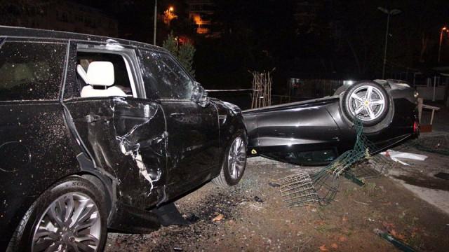 Burak Yılmaz'ın kaza görüntüleri ortaya çıktı !