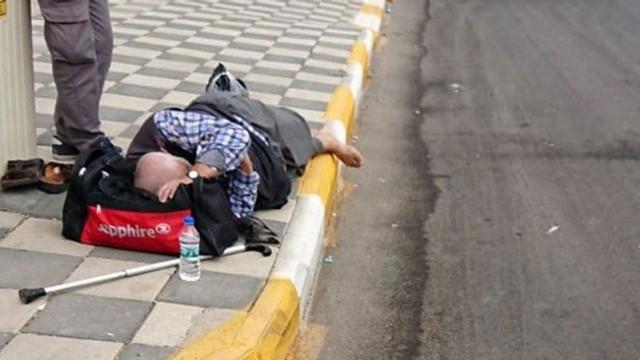 İnsanlık kaldırımda öldü !