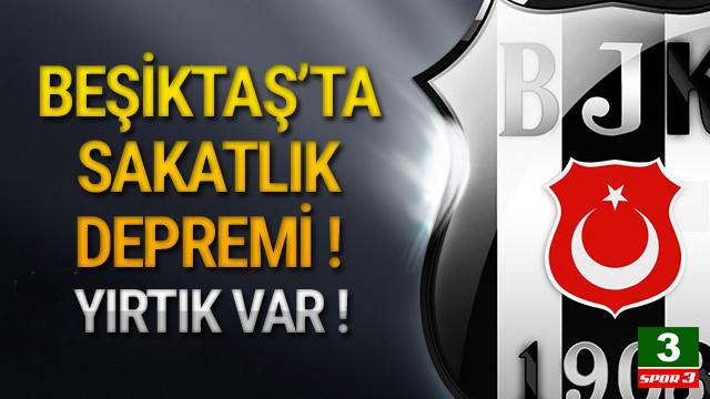 Beşiktaş'ta sakatlık şoku ! Yırtık var...