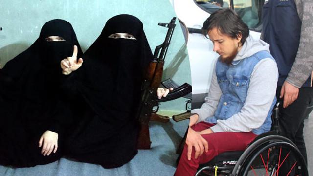 Uluslararası düzeyde aranan militan, 2 karısıyla tutuklandı