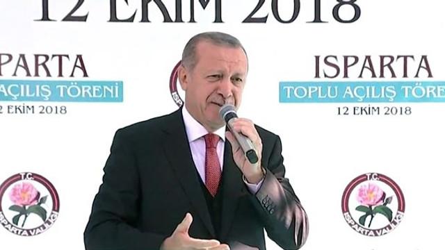 Erdoğan: Isparta'da 100 kilo altın bulundu