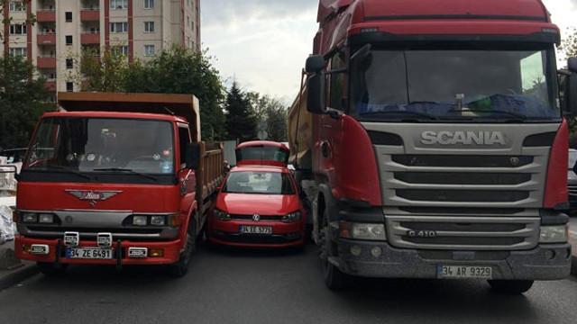 İstanbul'da garip kaza !
