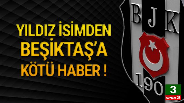 Adriano'dan Beşiktaş'a kötü haber !