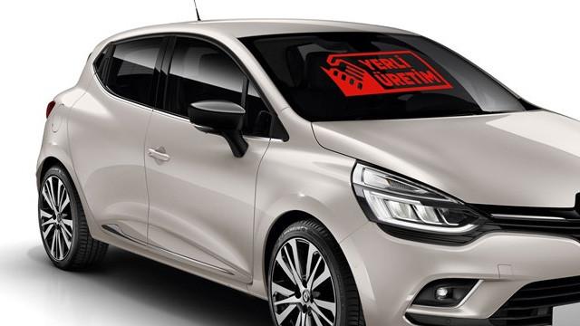 İki otomobile yerli üretim logosu