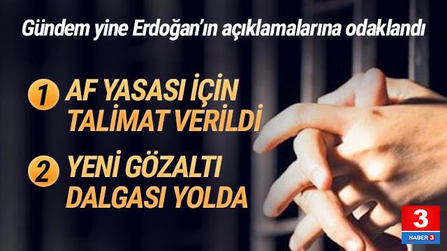 Cumhurbaşkanı Erdoğan'dan af teklifi mesajı
