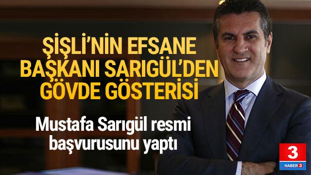 Mustafa Sarıgül CHP Şişli Belediye Başkanlığı için yeniden aday oldu