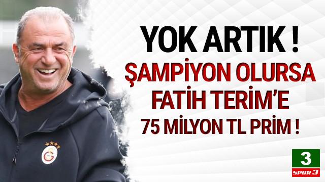 Fatih Terim'e 75 milyon TL prim !