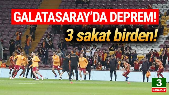 Galatasaray'da Serdar Aziz, Feghouli ve Fernando sakatlandı