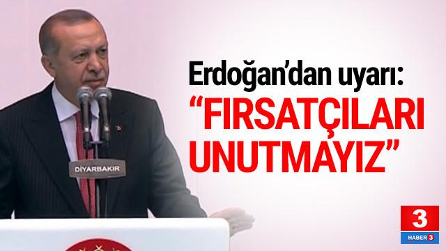 Cumhurbaşkanı Erdoğan: ''Unutmayız''