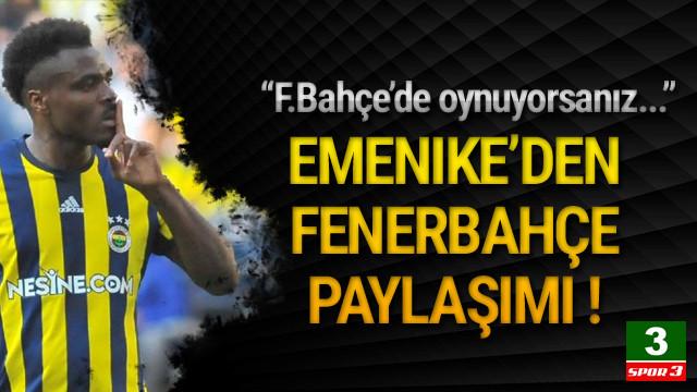Emekine'den Fenerbahçe paylaşımı !