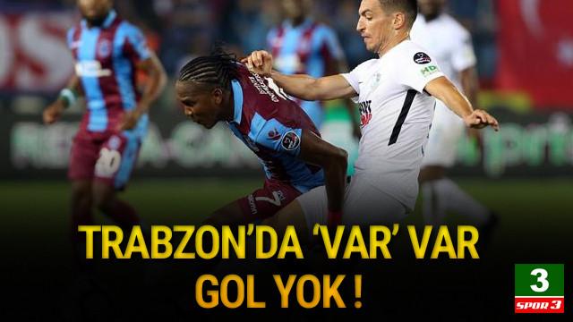 Trabzonspor evinde fırsat tepti !
