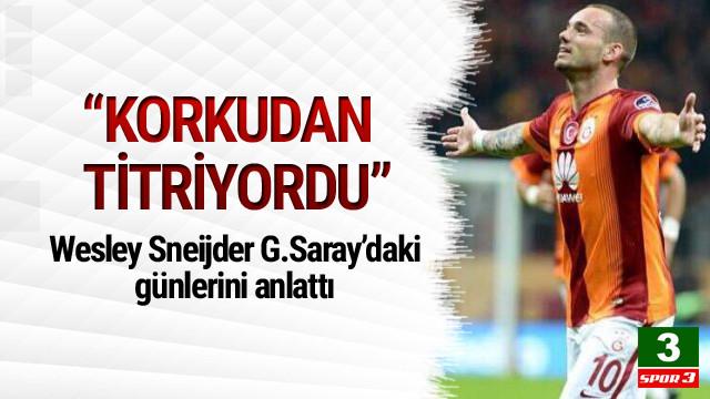 Sneijder'den Galatasaray sözleri