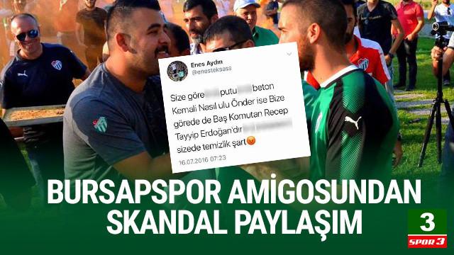 Bursaspor tribün liderinden Atatürk'e ağır hakaretler