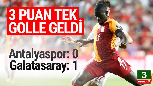 Aslan son nefeste... Antalyaspor: 0 - Galatasaray: 1