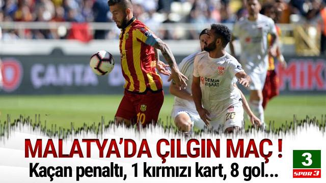 Malatya'da 8 gollü çılgın maç !