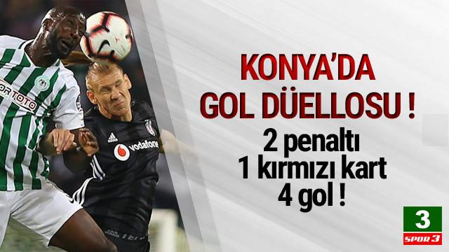 Konya'da gol düellosu ! 4 gol 1 kırmızı kart...