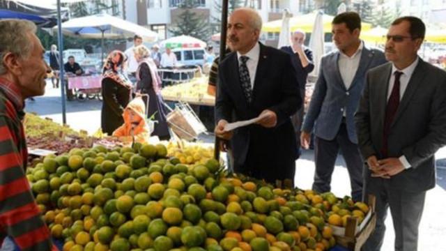 Fiyat denetimi yapan AK Partili başkana, pazarcıdan fatura yanıtı