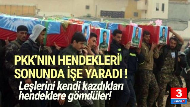 PKK'lı hainler kendi kazdıkları hendeklere gömüldü