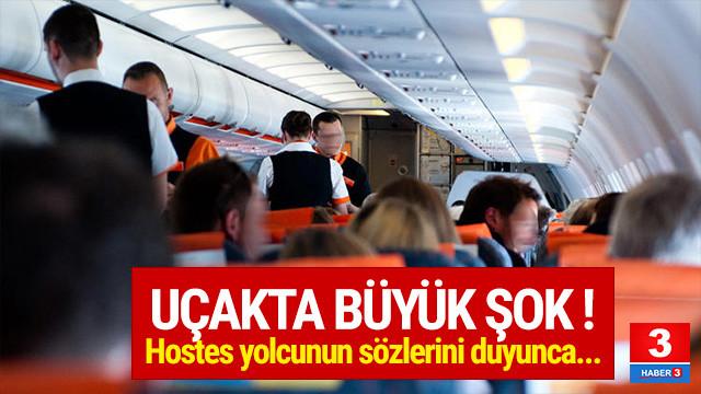Uçakta büyük şok ! Hostes şakayı duyunca...