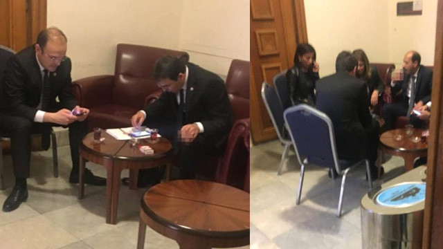 Skandal ! Milletvekilleri sigara yasağını deldi