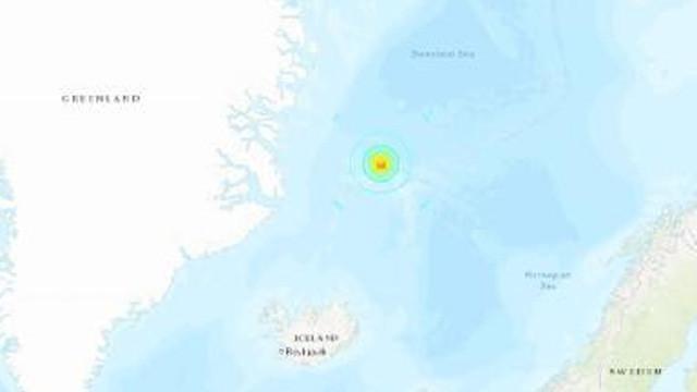 Grönland Denizi'nde 6.8'lik deprem !