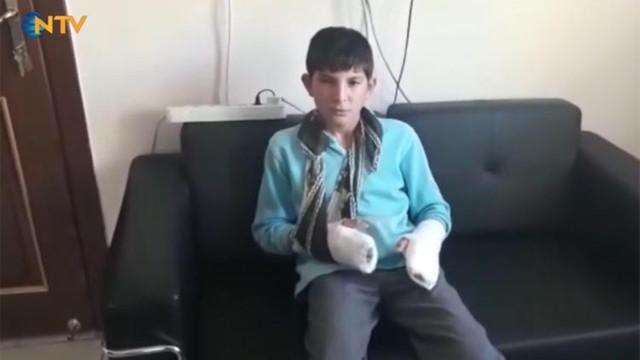 Öğrencisinin parmağını kırdı !