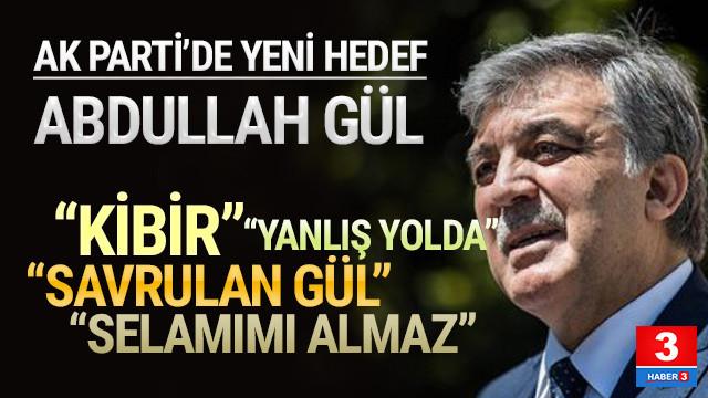 Abdullah Gül'e çok ağır sözler: ''Kibir kokan ifadeler...''