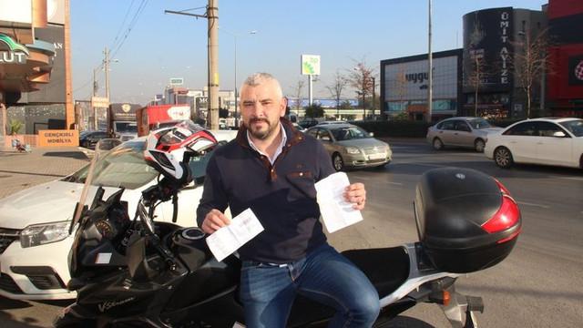 Motosiklet sürücüsüne şoke eden trafik cezası