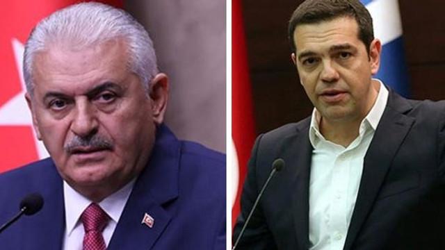 Başbakan Yunan mevkidaşı ile görüştü