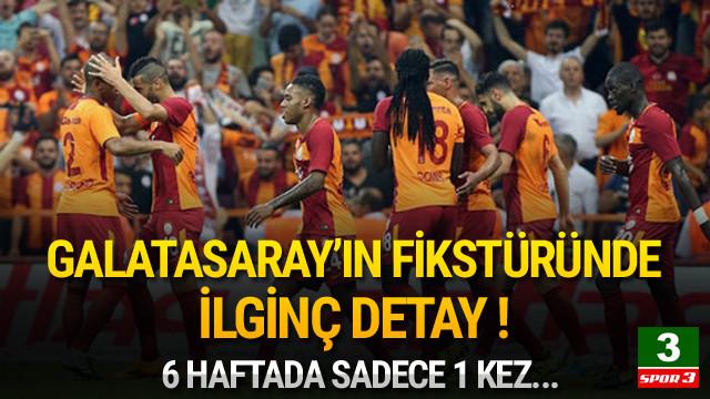 Galatasaray'ın fikstüründe göze çarpan detay